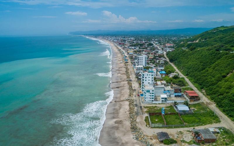 Aerial Beachfront San Clemente, Ecuador Nikon D7500 by Lourdes Mendoza