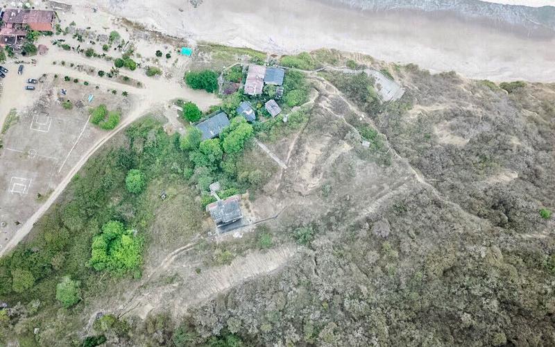 Aerial View Puerto Lopez, Ecuador Private by Private