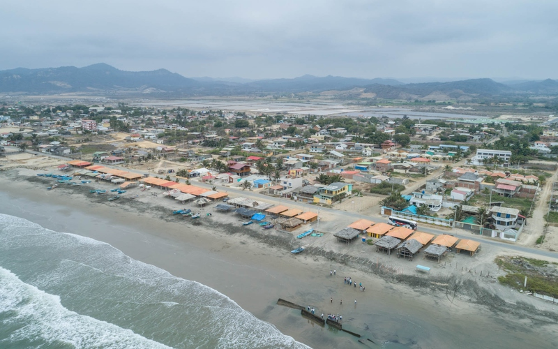 Aerial Beachfront San Jacinto, Ecuador DJI Phantom 4 by Jonathan Mueller